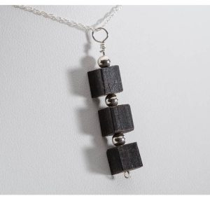 Bog Oak Three Cube Pendant