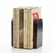 Bog Oak Book Ends