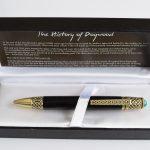 Antique Brass Bog Oak Pen